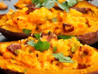 Überbackene Süßkartoffeln