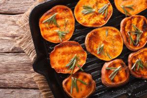 Ofensüßkartoffel vom Grill